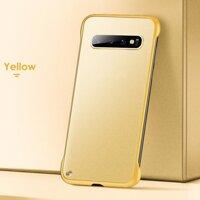 Đen/Đỏ/Xanh Dương/Vàng Ốp Lưng Điện Thoại Samsung Galaxy S10 S9 S8 Plus S10E Không Viền Ốp Lưng Ốp Mờ Kẹo màu Sắc Cho Samsung Note 10 Pro 9 8