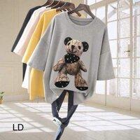 [ĐẸP-ĐỘC-LẠ] Áo phông gấu Gờ Cê khăn cổ LDU0719