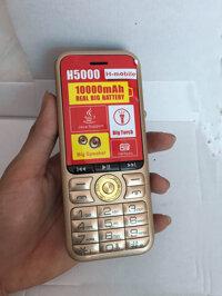 Điện thoại 4 sim h5000 pin khủng