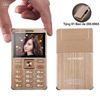 Điện thoại ATM Card Phone Satrend A10 (Gold) (Tặng 01 bao da và 01 củ sạc)