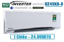 Điều hòa - Máy lạnh Panasonic U24VKH-8 - 1 chiều, inverter, 2.5 HP