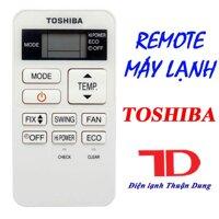 Điều khiển máy lạnh Toshiba lùn