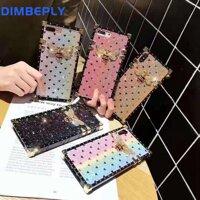 Dimbeply Bling Bling Lấp Lánh Cho Samsung Galaxy S8 S9 S10 Plus S10 + S10e Ốp Lưng TPU Silicon Mềm Mại Ốp Lưng Ong Nhiều Màu Sắc Vuông ốp Lưng Dành Cho Dành Cho Samsung Note 8 9 10 10 +