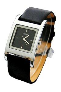 Đồng hồ nam dây da Sinobi S9155G (Đen)