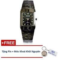 Đồng hồ nam dây thép không gỉ Sinobi 91KN48 (Đen)
