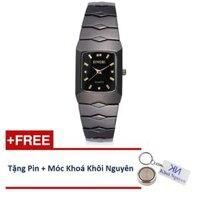 Đồng hồ nam dây thép không gỉ Sinobi 91KN48 (Vạch Vàng)