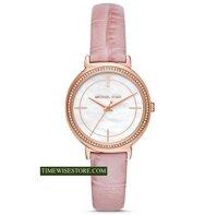 ĐỒNG HỒ NỮ CHÍNH HÃNG Michael Kors MK2663 Women's Cinthia Rose Gold-Tone and Nude Leather Watch