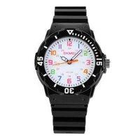 Đồng hồ trẻ em Skmei thời trang thể thao SK 1043 dây cao su Đen
