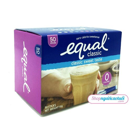 Đường ăn kiêng EQUAL hộp hiệu EQUAL 50 gói