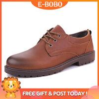 E-BOBO Mới Giày Da Nam Anh Thời Trang Giày Slip-On Giày Lười Cá Tính Cho Nữ Giày Nam Cho Nữ form Giày Da Cho Nam