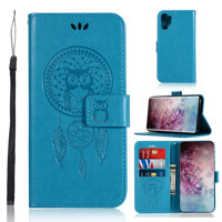 For Samsung Galaxy Note 10 Plus/N975/Note 10 Plus 5G/Note 10/N970/Note 10 5G/Note 9/N9600 Casing Embossed PU Leather Wallet Flip Phone Case Cover
