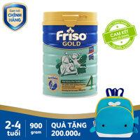 [FREESHIP TP.HCM & HN] Sữa bột Friso Gold 4 900g cho trẻ từ 2-4 tuổi + Tặng 1 balo cá voi xanh trị giá 200k - Cam kết HSD ít nhất 10 tháng [bonus]
