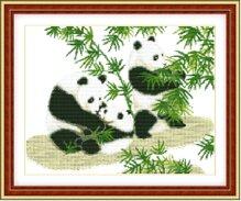 Tranh thêu động vật Die Lian Hua Gia đình hạnh phúc YD241
