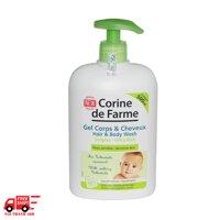 Gel goi va tam cho be cho moi loai da Corine De Farme Hair-Body Wash 500ml