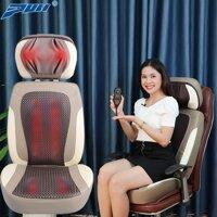 Ghế (đệm) massage hồng ngoại cao cấp Hàn Quốc Puli PL-887, điều trị đau nhức cổ lưng