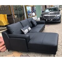 Ghế sofa góc màu đen nhập khẩu HFC-GSF701-27 cao cấp
