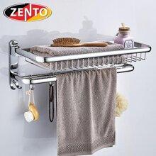 Giá để đồ kết hợp treo khăn inox Zento HA4647