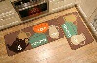 [GIÁ HỦY DIỆT] Bộ đôi thảm lót trải sàn nhà bếp gồm 1 thảm 40x60cm và 1 thảm 40x120cm đồng thời giúp trang trí không gian nội thất phòng bếp hiện đại có đế chống trơn trượt nhiều hình đẹp