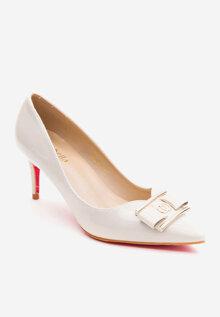 Giày cao gót bít mũi nhọn đính nơ Mirabella BMN585 - 6 phân