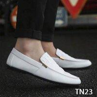 Giày da Nam cao cấp Phong cách Trẻ Trung Năng Động TN23 - Trắng