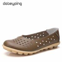 Giày Da Nữ Chính Hãng Dobeyblade Giày Mùa Hè Cut-Out Mới Giày Nữ Đế Bằng Nữ Giày Đế Bằng Nữ Cỡ Lớn 35-44