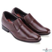 Giày nam tăng chiều cao Huy Hoàng màu nâu HH7717