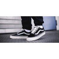Giày Vans Auth 🔴FREESHIP🔴 Giảm 50k Khi Nhập Mã [VANSREAL] Giày Vans Nam Nữ Chính Hãng Old Skool Black- Chuẩn Auth