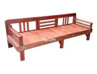 Giường ghế gấp gỗ xoan (Vecni)