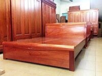 Giường ngủ gỗ xoan đào 1m8 GNG02