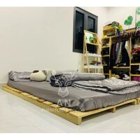 Giường Pallet / Giường Ngủ Gỗ Thông - 1m8x2m cao 10cm