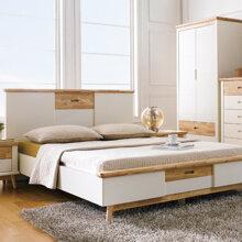 Giường đôi Vivid gỗ tự nhiên 1m4
