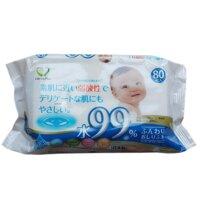 Gói khăn ướt cho bé 80 tờ (Hàng Nhật)