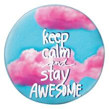 Gối tròn Keep calm & stay awesome - GOTE143