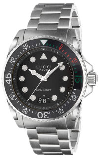 Gucci Dive Stainless Men's Watch YA136208, 45mm