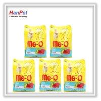 Hanapet-Combo 5 gói ME-O 350gr - Thức ăn dạng hạt cho mèo lớn vị CÁ NGỪ ( UK   201c)