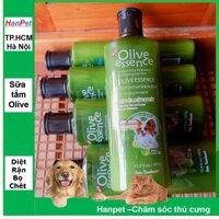 Hanapet-Sữa tắm chó mèo OLIVE 450ml  siêu mềm mượt - loại trị ngứa trừ rận khử mùi / dầu tắm chó mèo