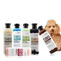 Hanapet-Sữa Tắm SOS xanh ngọc (mượt lông) - 530ml cho chó mèo ( 366b)
