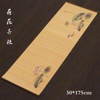 Handmade Trà Chiếu Trúc Trà Màn Rèm Trúc Trà Lót Khay Kung Fu Dụng Cụ Pha Trà Trà Sáu Váy Miếng Lót Cách Nhiệt Bảng Runner