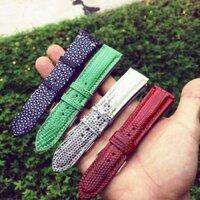 Hàng may tay-Dây đồng hồ da kỳ đà handmade 100%
