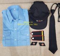 [HCM] Khuyến Mãi Đặc Biệt Đồng Phục Bảo Vệ (Áo+Quân+Nón+Cầu Vai+Cà Vạt+Ve áo) Vải Kate- Hình Thật hàng sẵn