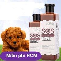 HCM-Sữa Tắm SOS (Nâu đỏ)- 530ml - cho các loại chó mèo màu nâu đỏ vàng - dầu gội đầu chó /  sữa tắm mèo / dầu tắm chó mèo /vệ sinh chó - HP2111012