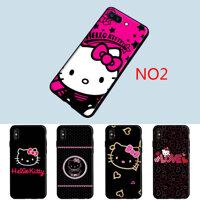 Hello Kitty Dễ Thương Mềm TPU Cho iPhone 5 5S SE 6 6S 7 8 Plus X XS 11 Pro max XR