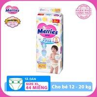 (Hỗ trợ vận chuyển) Tã/bỉm dán Merries size XL - 44 miếng (Cho bé 12 - 20 kg) LazadaMall