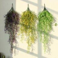 Hoa Giả Hoa Nghệ Thuật Dây Hoa Lan Màu Xanh Lá Cây Dây Mây Hoa Giả Đồ Trang Trí Nội Thất Phòng Khách Hoa Nhựa Tường Cây Xanh Đồ Treo Trang Trí