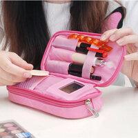 Honana HN-B56 Portable 2 Layers Travel Storage Bag Colorful Cosmetic Makeup Organizer Toiletry Storage Bag