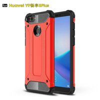HUawei Y9 2018 Enjoy8 Plus Case Armor Series Shock Proof Hybrid Heavy Duty Dual Layer [Soft TPU+ Hard Plastic] Hard Armor Defender Protective Case for Huawei Y9 2018 / Enjoy 8 Plus