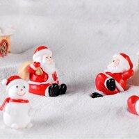 Jollic Giáng Sinh Thu Nhỏ Ông Già Noel Người Tuyết Chó Kéo Xe Tuần Lộc Tượng Hình Tuyết Phong Cảnh