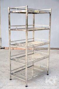 Kệ chén inox 5 tầng 1m4 (173x120x45)
