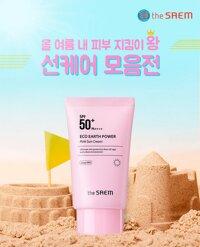 Kem Chống Nắng Kiềm Dầu Giúp Da Sáng Hồng Tự Nhiên The Saem Eco Earth Power Pink Sun Cream SPF50+ PA++++ 50g