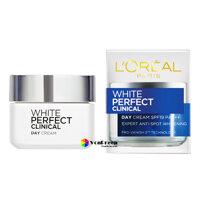 Kem dưỡng trắng da L'oreal White Perfect Clinical 50ml, ban ngày trắng sáng, ửng hồng rạng rỡ
